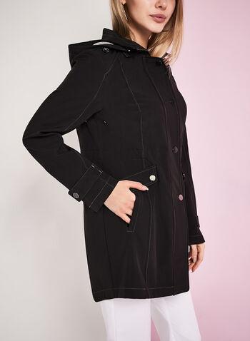 Hooded Jersey Anorak Coat, , hi-res