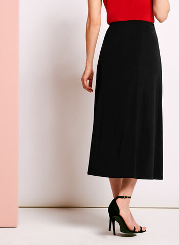 Pull-On Gored Maxi Skirt, , hi-res