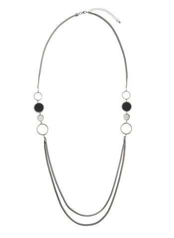 Double-Strand Ring Necklace, , hi-res