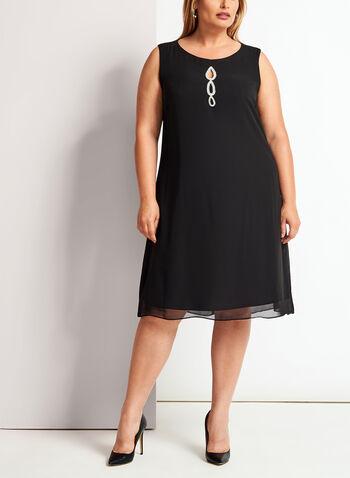Crystal Embellished Cape Dress, , hi-res