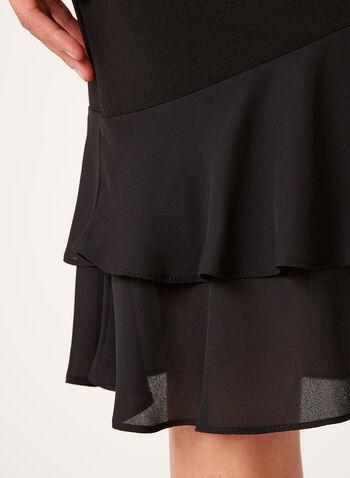 Crepe Layered Ruffle Detail Skirt , , hi-res