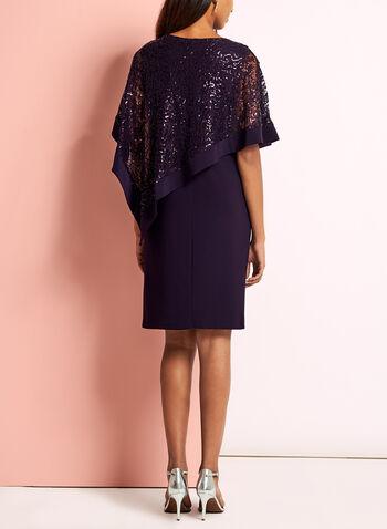 Sequin Lace Poncho Dress, , hi-res
