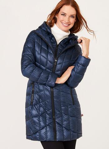 B by Bernardo - PrimaLoft® Down Filled Packable Coat, , hi-res