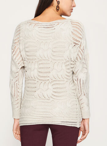 Glitter Crochet Knit Sweater, , hi-res