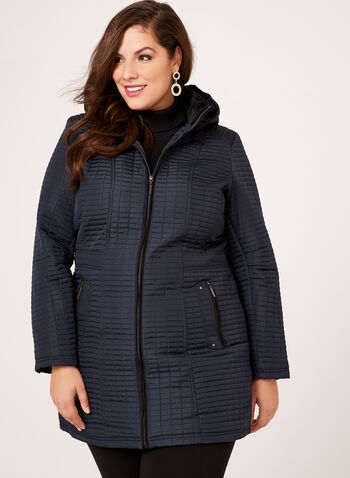 Weatherproof - Hooded Quilted Coat, , hi-res