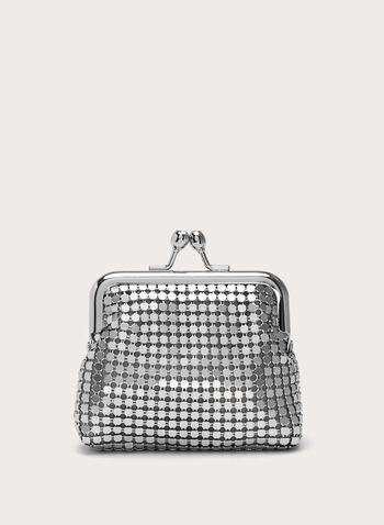 Mesh Coin Purse, Grey, hi-res