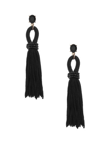 Bead & Tassel Earrings, , hi-res