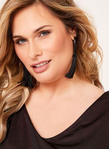 Sleeveless Jersey Glitter Top , , hi-res