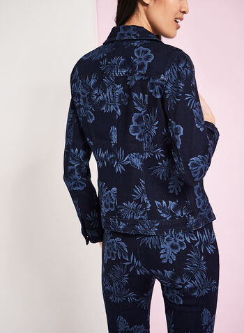 Floral Print Denim Jacket, , hi-res