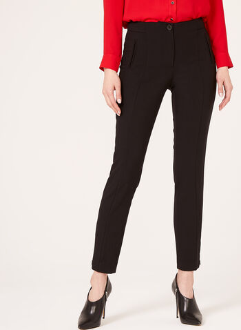 Modern Fit Slim Leg Ankle Pants, , hi-res