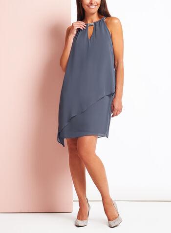 Crystal Embellished Cleo Neck Dress, , hi-res