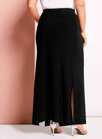 Side Slit Detail A-line Maxi Skirt, , hi-res