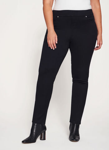 Pull-On Slim Leg Jeans, , hi-res