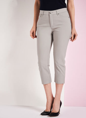 Simon Chang - Micro Twill Capris, Grey, hi-res