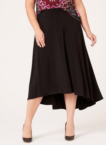 High Low Hem Pull-On Skirt , , hi-res