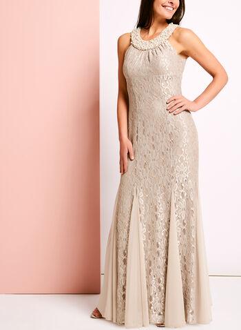 Glitter Lace & Pearl Mermaid Dress, , hi-res