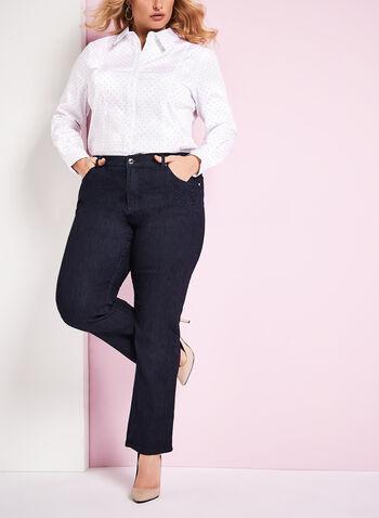 Simon Chang Straight Leg Jeans, , hi-res