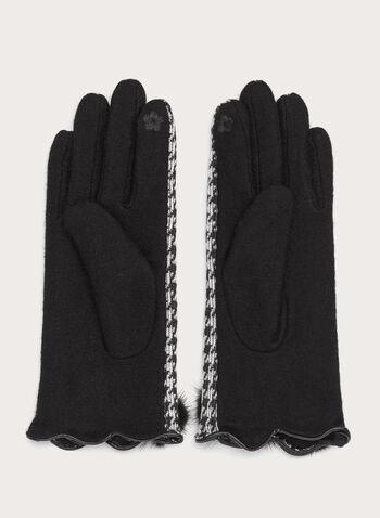 Houndstooth Knit Gloves, , hi-res