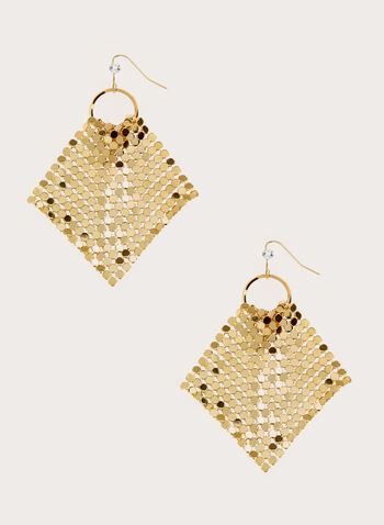 Mesh Hook Earrings, , hi-res