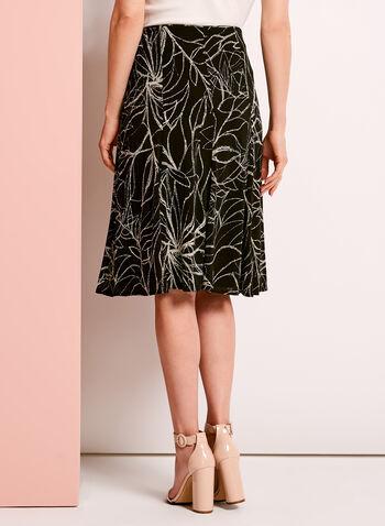 Jupe midi trapèze motif floral, , hi-res