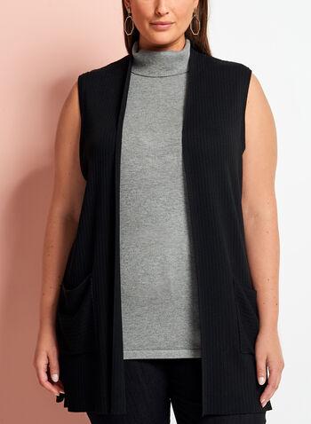 Sleeveless Knit Cardigan , , hi-res
