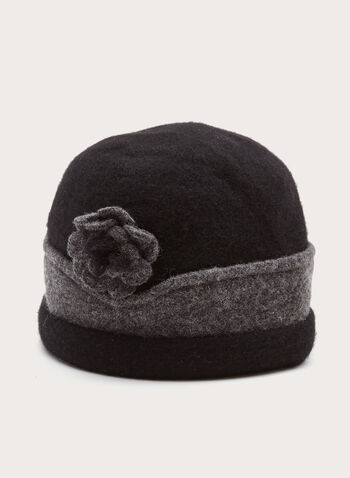 Two-Tone Wool Hat, , hi-res