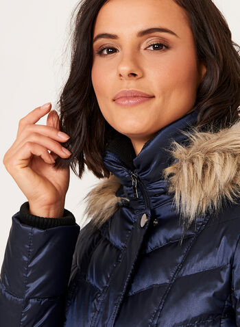 Quilted Nylon Down Filled Coat, , hi-res