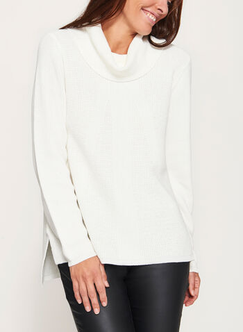 Cowl Neck Knit Sweater , , hi-res