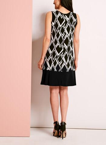 Geometric Print Trapeze Dress, , hi-res