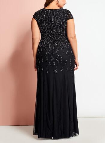 Frank Lyman - Sequin & Tulle Evening Dress, , hi-res