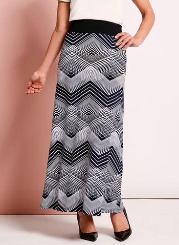 Graphic Print Maxi Skirt, , hi-res