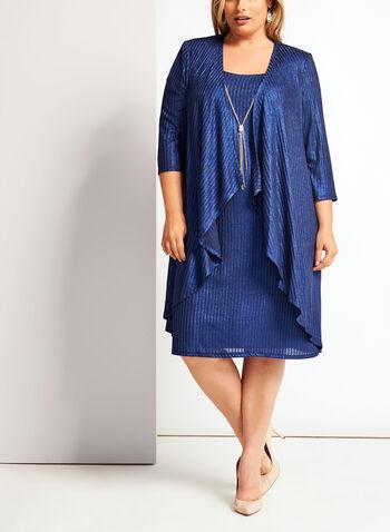 Lurex Rib Knit Dress, , hi-res