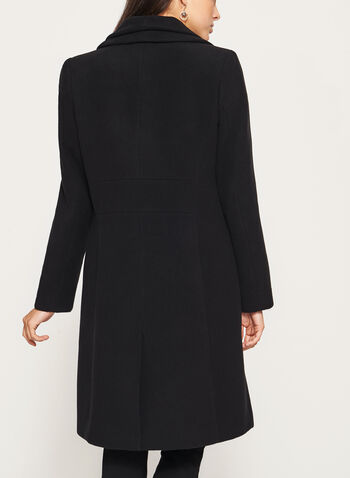 Wool Like Double Collar Coat, , hi-res