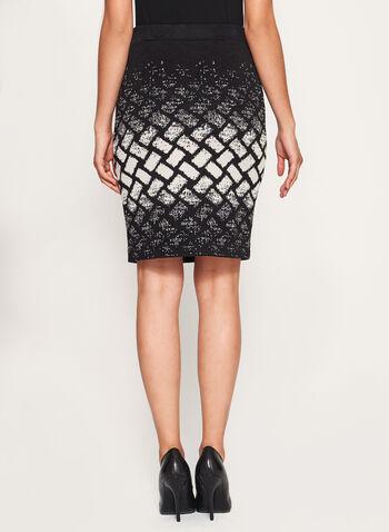Geometric Print Knit Pencil Skirt, , hi-res