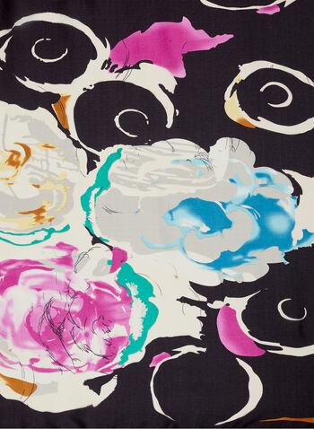 Floral & Swirl Print Scarf, , hi-res