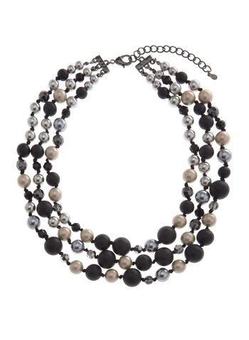 Multi-Tone Beaded Necklace, , hi-res