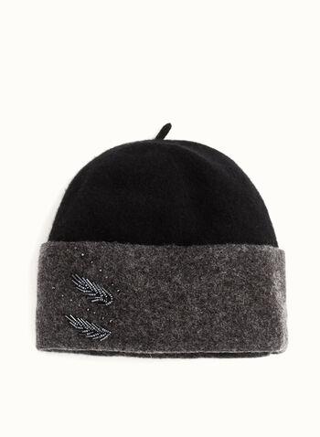 Beaded Wool Hat , , hi-res