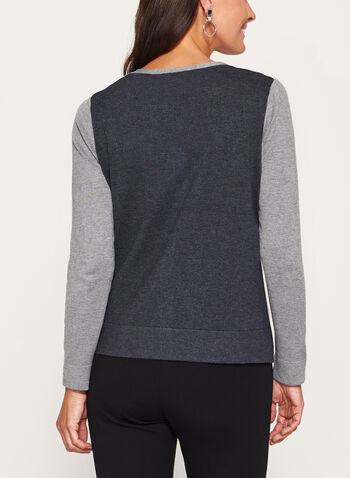 Cardigan en tricot et blocs de couleurs , , hi-res