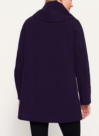 Wool-Like Shawl Neck Coat, , hi-res