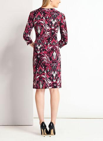 Robe fleurie style enveloppe en jersey, , hi-res
