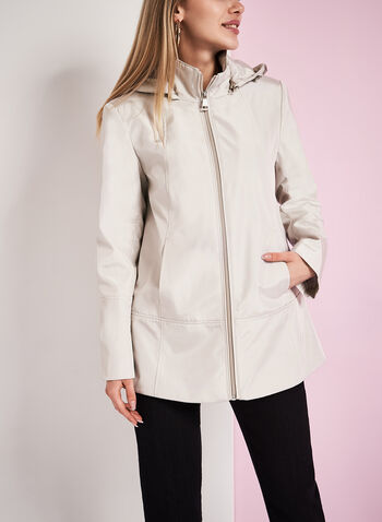 Novelti Iridescent A-Line Coat, , hi-res
