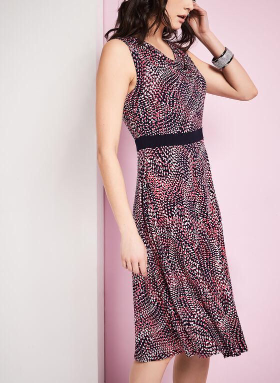 Jersey Abstract Print Dress, Blue, hi-res