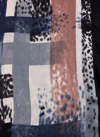 Stripe Print Scarf, , hi-res