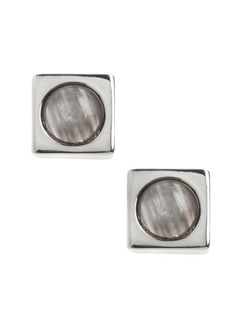 Square Marble Stone Earrings, , hi-res