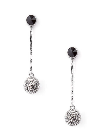 Pavé Ball Drop Earrings, , hi-res