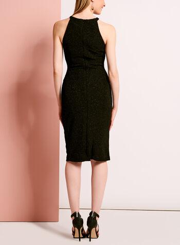 Embellished Glitter Crepe Dress, , hi-res