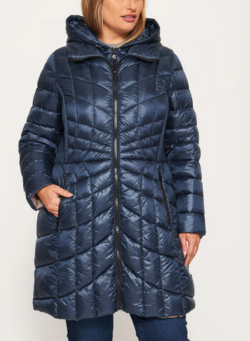 B by Bernardo - PrimaLoft® & Down Filled Packable Coat , , hi-res