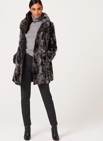Novelti - Faux Fur Reversible Coat, , hi-res