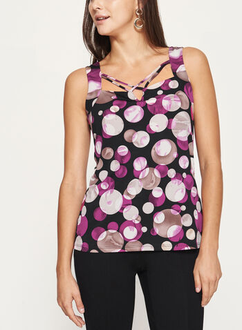 Sleeveless Bubble Print Jersey Top , , hi-res