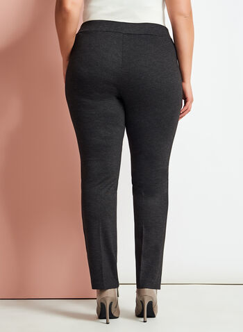 Ponte Pull-On Slim Leg Pants, , hi-res